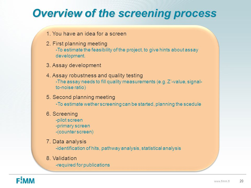 Overview of the screening process