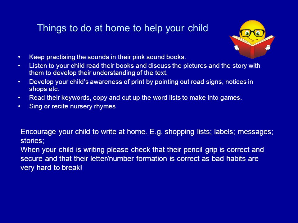 Things to do at home to help your child