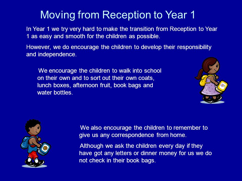 Moving from Reception to Year 1