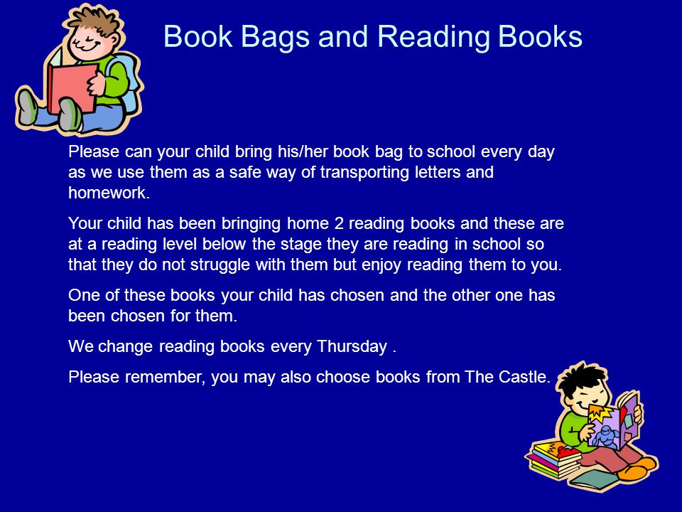Book Bags and Reading Books