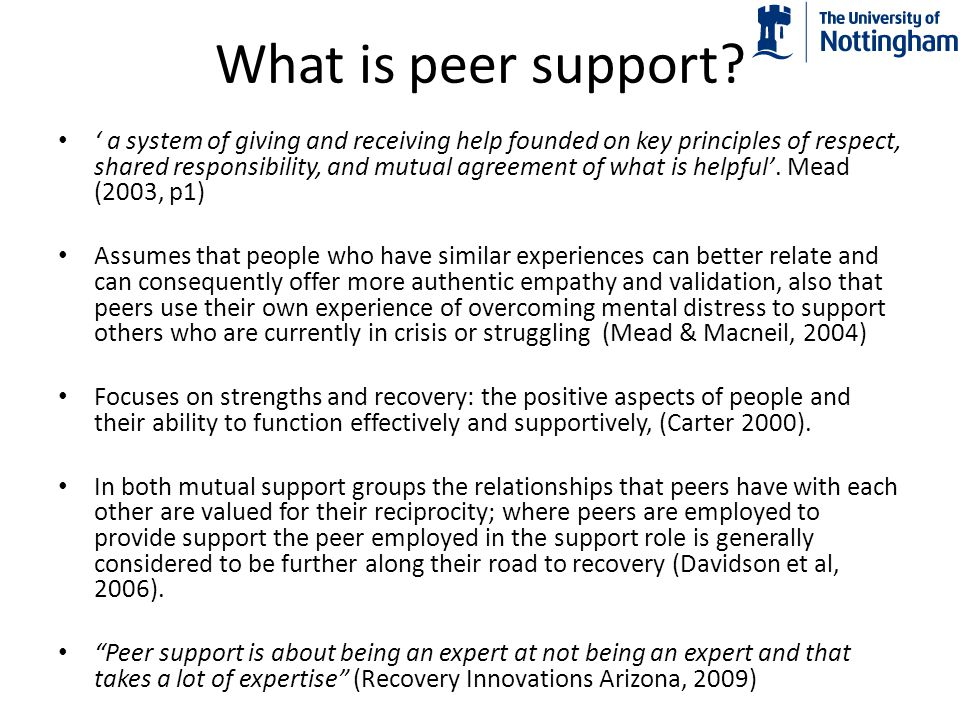 What is peer support