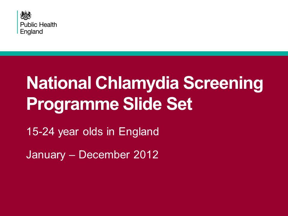 National Chlamydia Screening Programme Slide Set