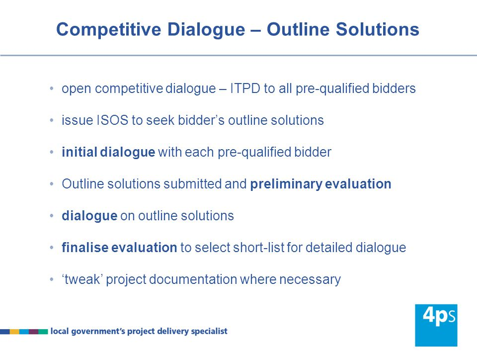Competitive Dialogue – Outline Solutions