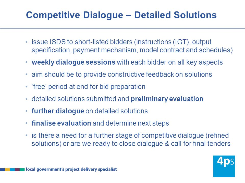Competitive Dialogue – Detailed Solutions