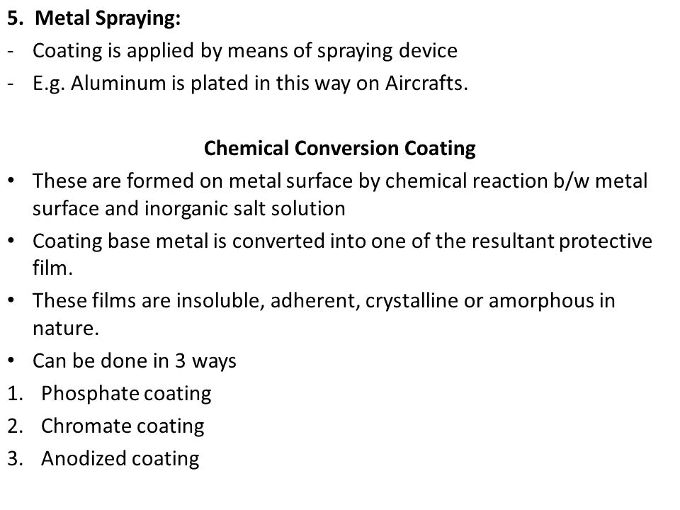 Chemical Conversion Coating