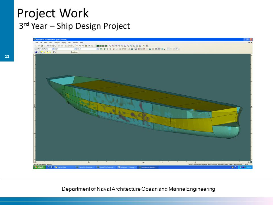 Project Work 3rd Year – Ship Design Project