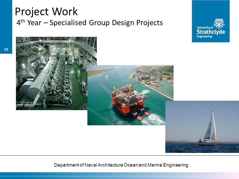 Project Work 4th Year – Specialised Group Design Projects