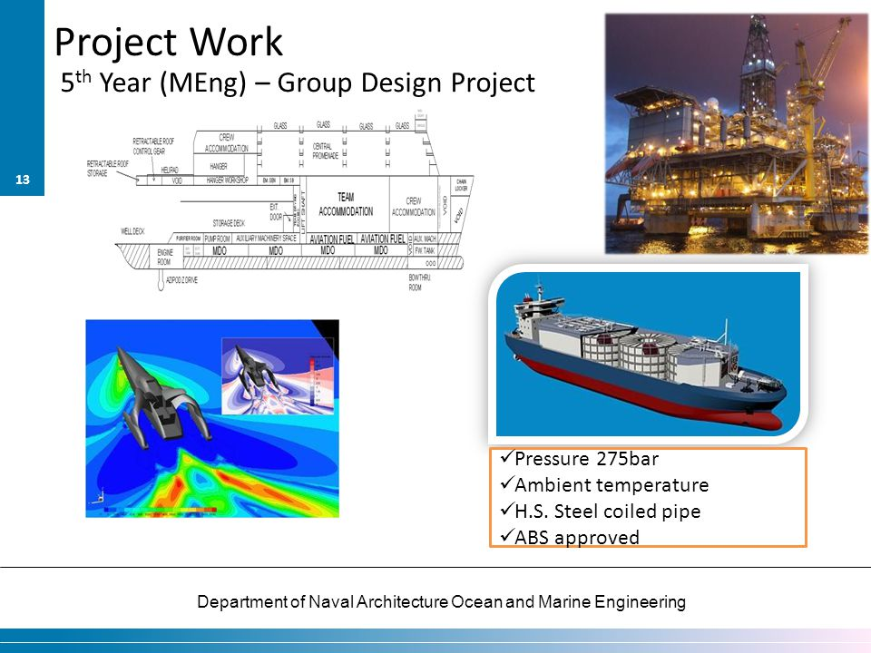 Project Work 5th Year (MEng) – Group Design Project Pressure 275bar