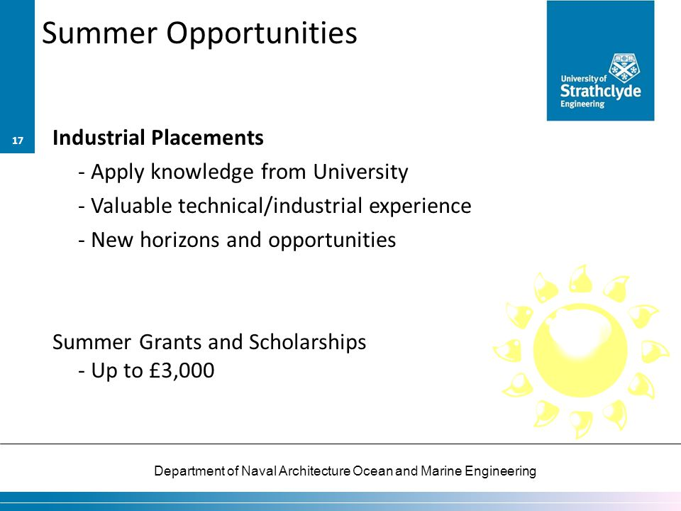 Summer Opportunities