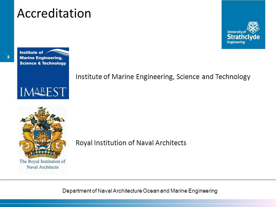 Accreditation Institute of Marine Engineering, Science and Technology Royal Institution of Naval Architects
