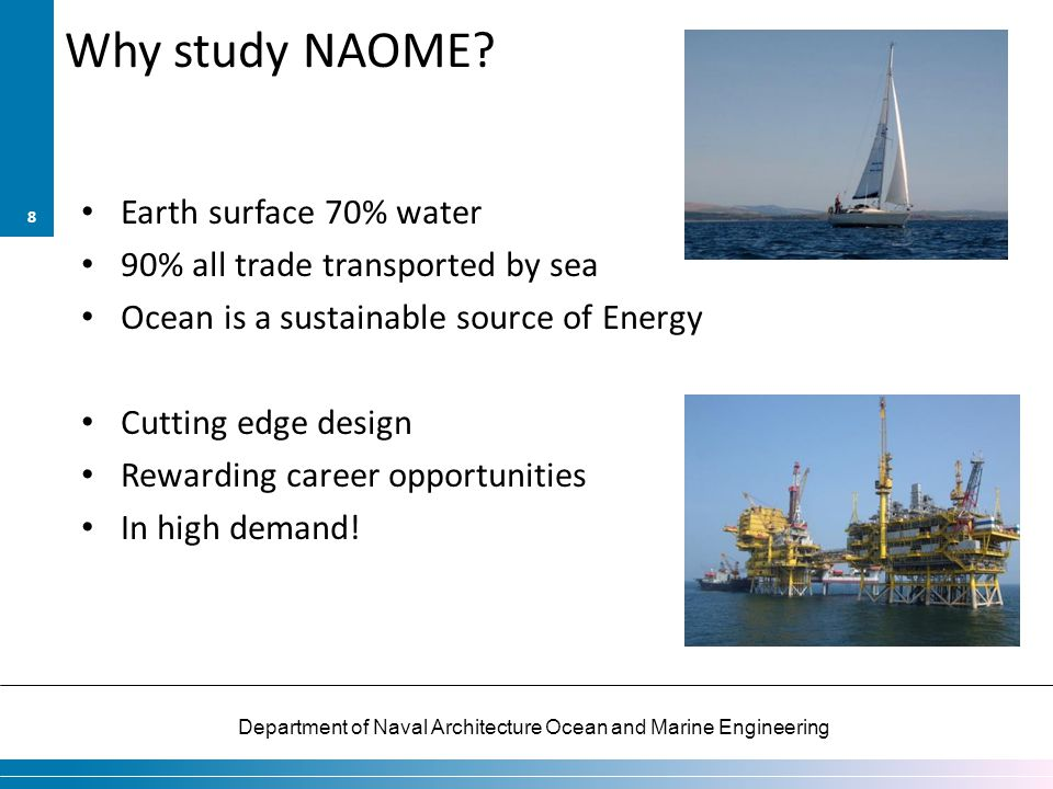 Why study NAOME Earth surface 70% water