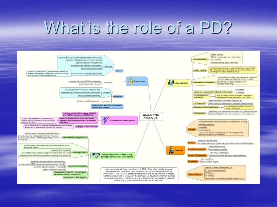 What is the role of a PD