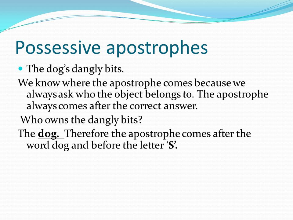 Possessive apostrophes