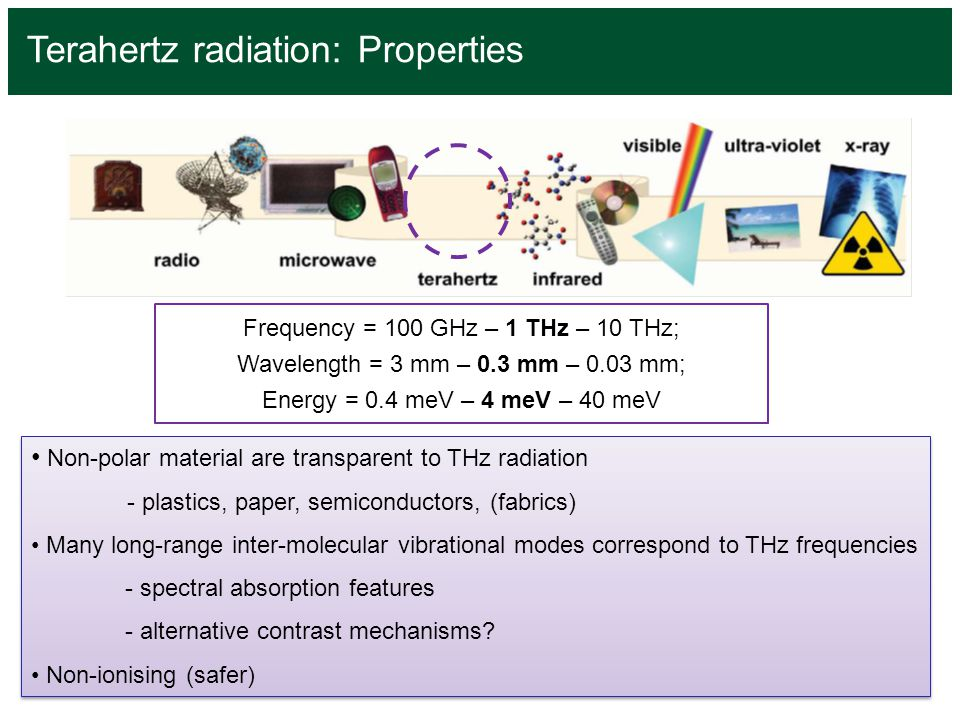 Terahertz radiation: Properties