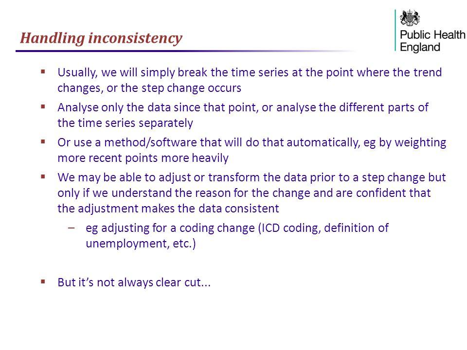 Handling inconsistency