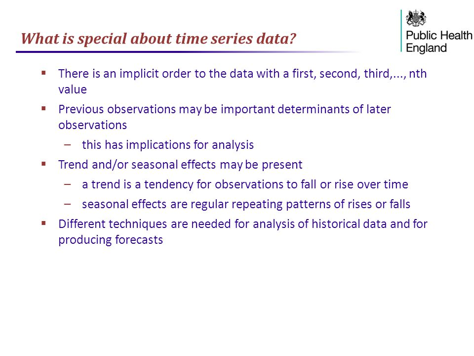 What is special about time series data