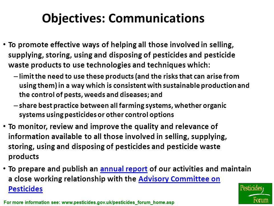 Objectives: Communications
