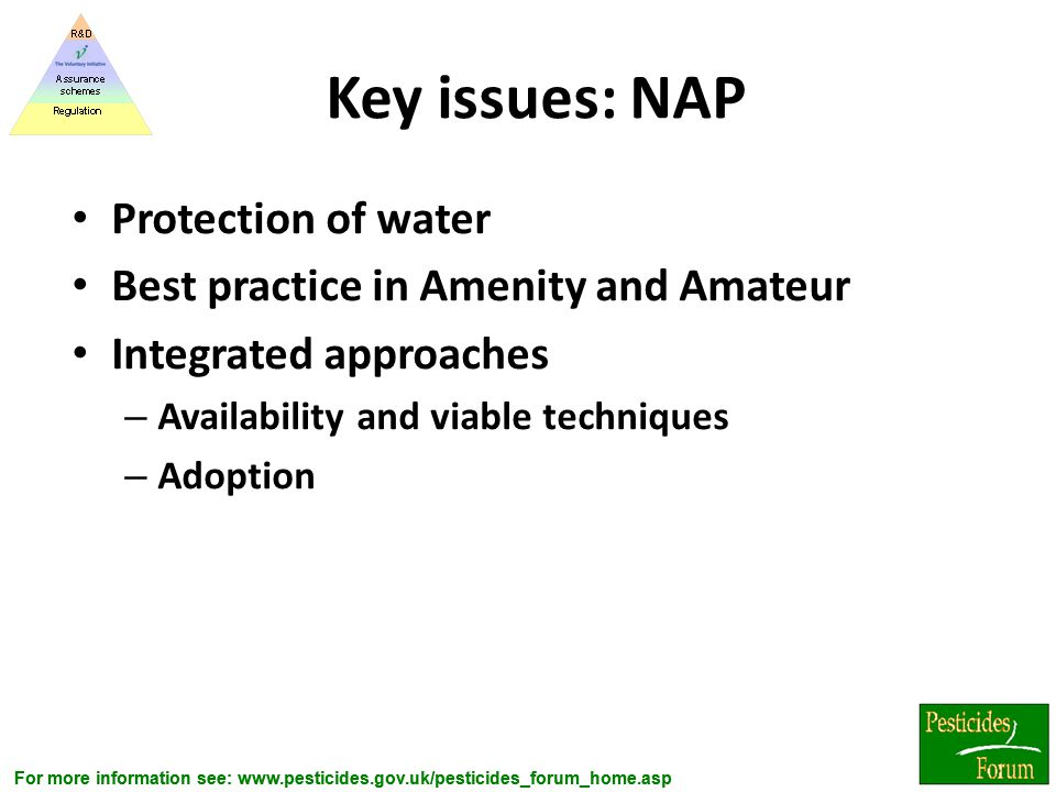 Key issues: NAP Protection of water