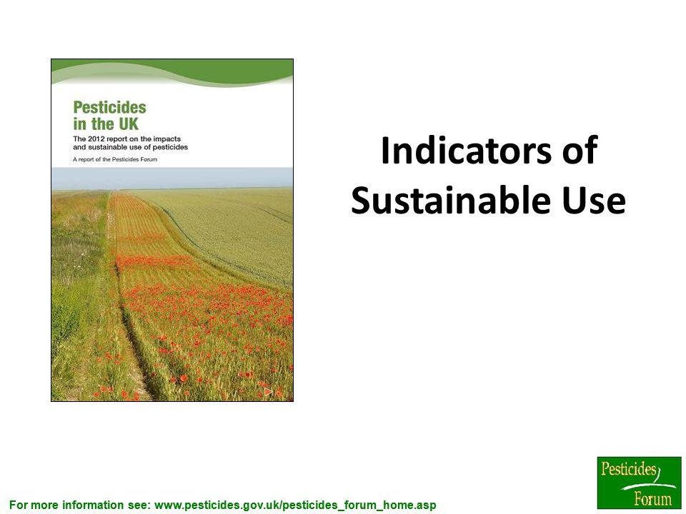 Indicators of Sustainable Use