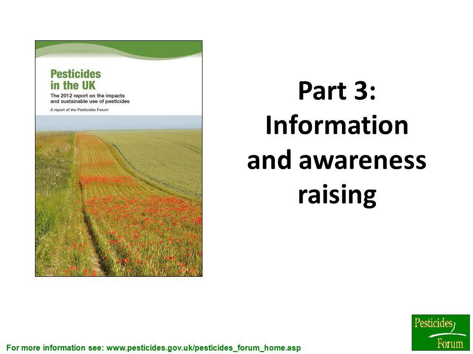 Part 3: Information and awareness raising