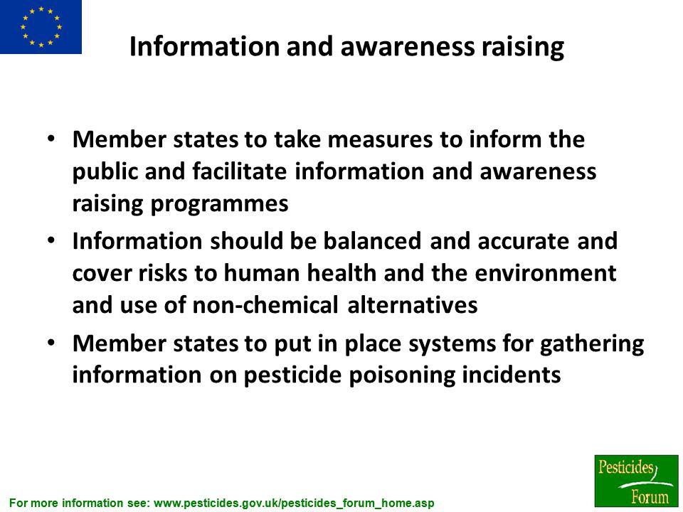 Information and awareness raising