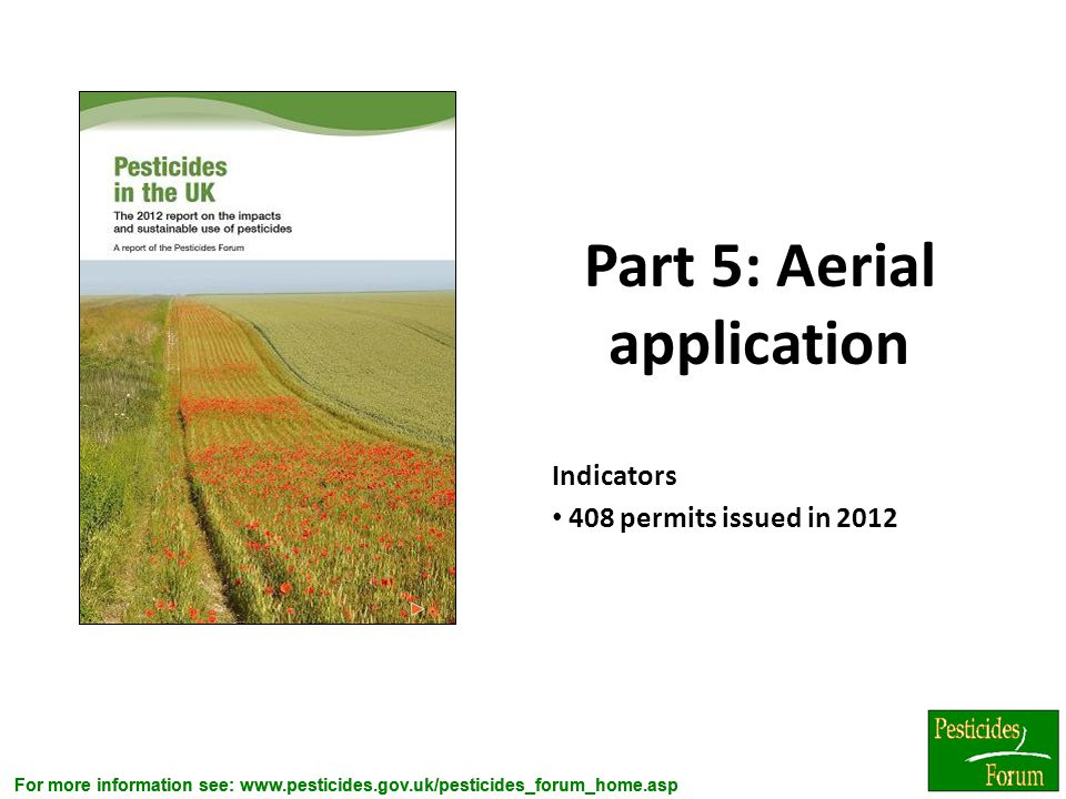 Part 5: Aerial application