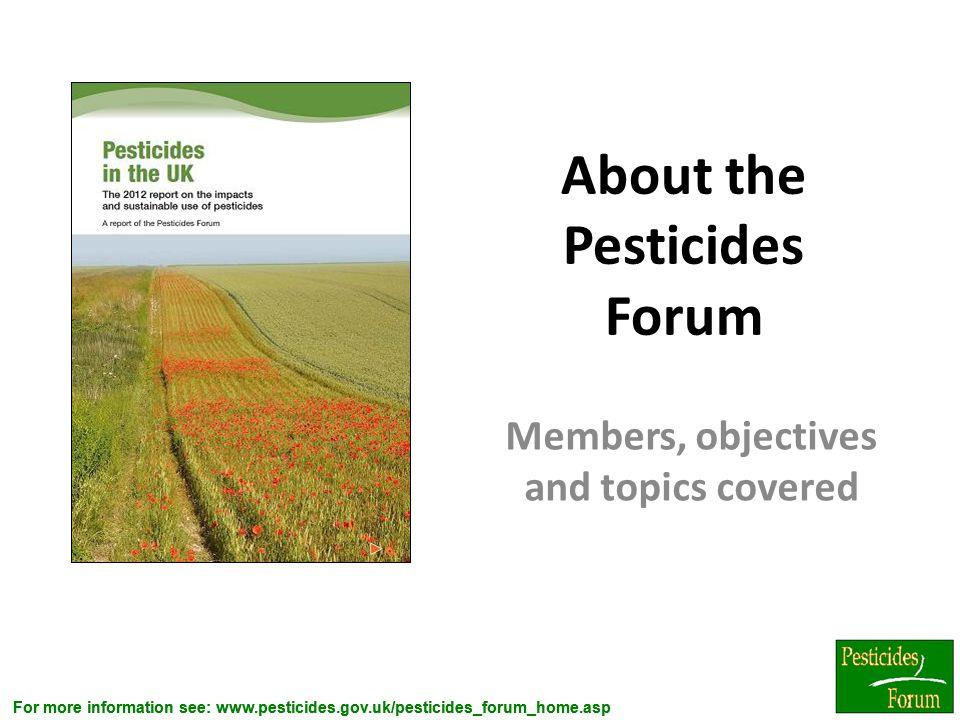 About the Pesticides Forum