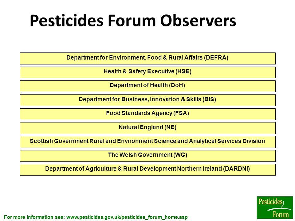 Pesticides Forum Observers