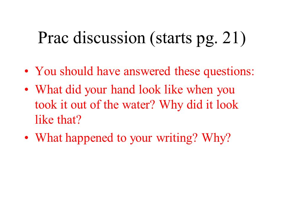 Prac discussion (starts pg. 21)