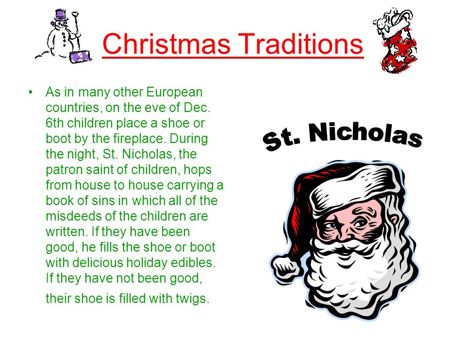 Christmas Traditions St. Nicholas