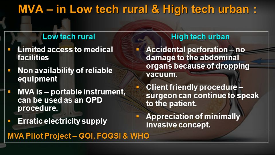 MVA – in Low tech rural & High tech urban :