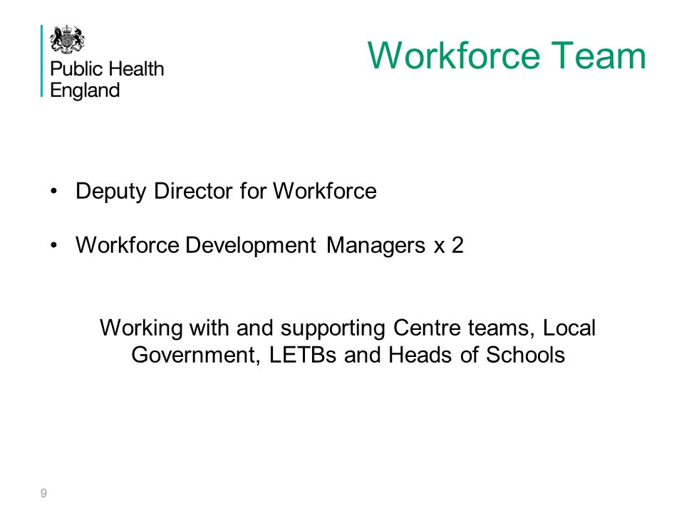Workforce Team Deputy Director for Workforce