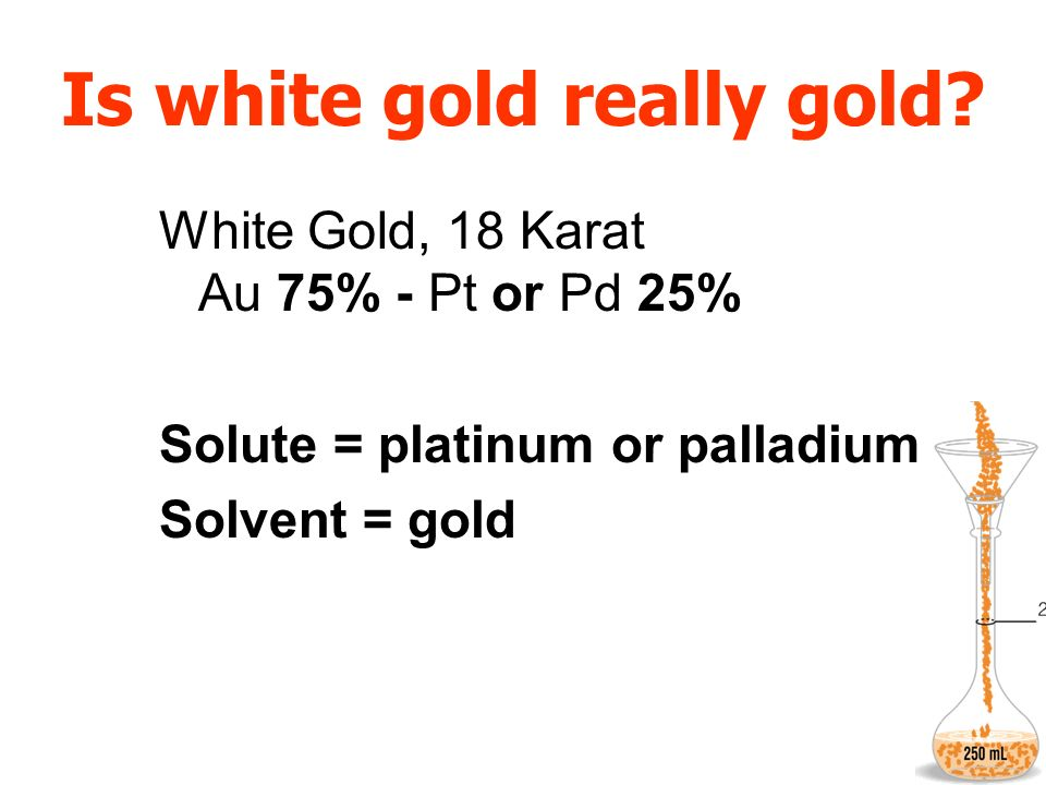 Is white gold really gold