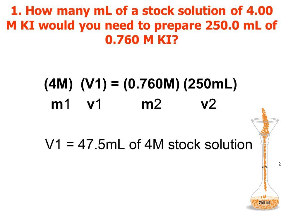 V1 = 47.5mL of 4M stock solution