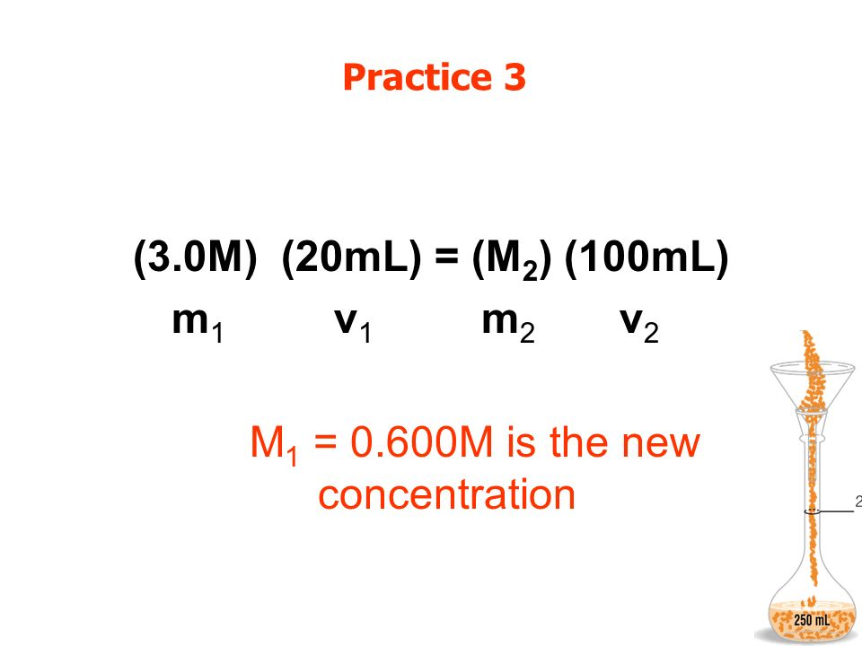 M1 = 0.600M is the new concentration