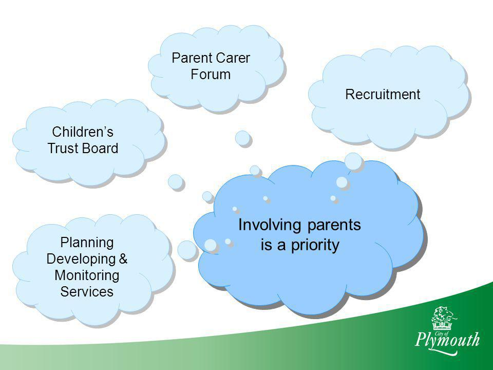 Involving parents is a priority