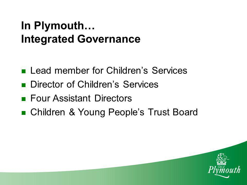 In Plymouth… Integrated Governance
