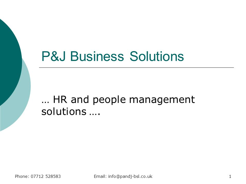 P&J Business Solutions