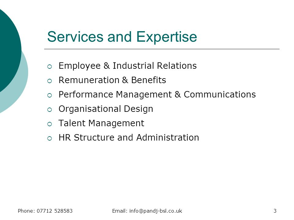 Services and Expertise