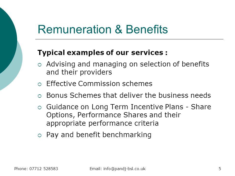 Remuneration & Benefits