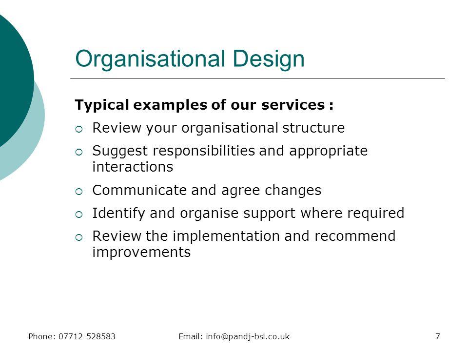 Organisational Design
