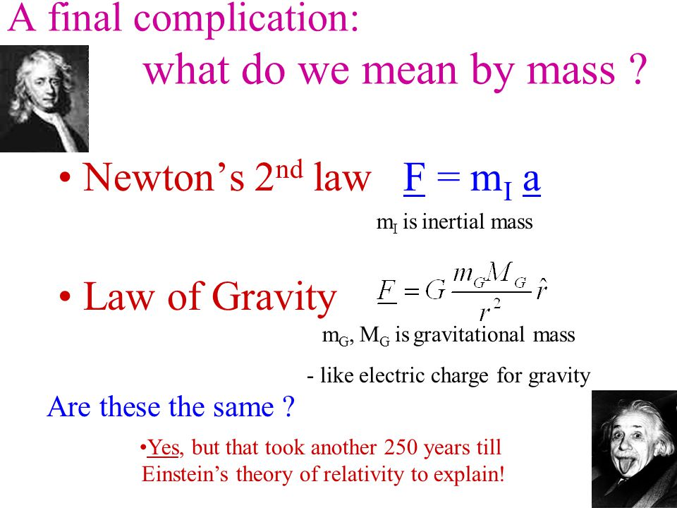 A final complication: what do we mean by mass