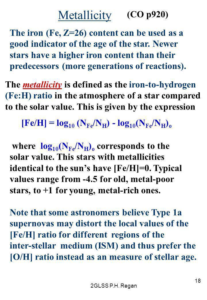 Metallicity (CO p920)
