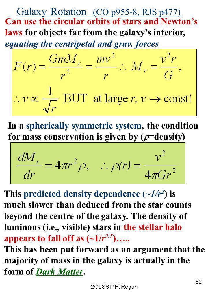 Galaxy Rotation (CO p955-8, RJS p477)