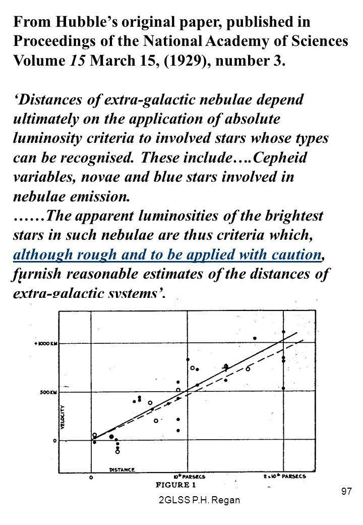 From Hubble's original paper, published in