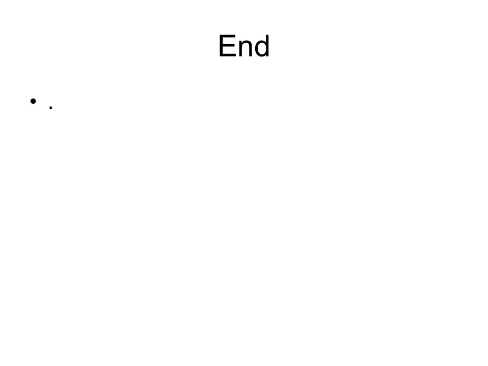 End .