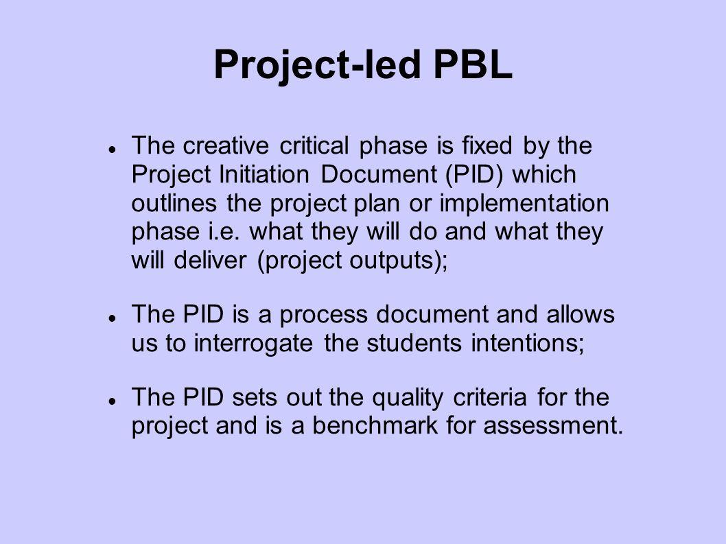 Project-led PBL