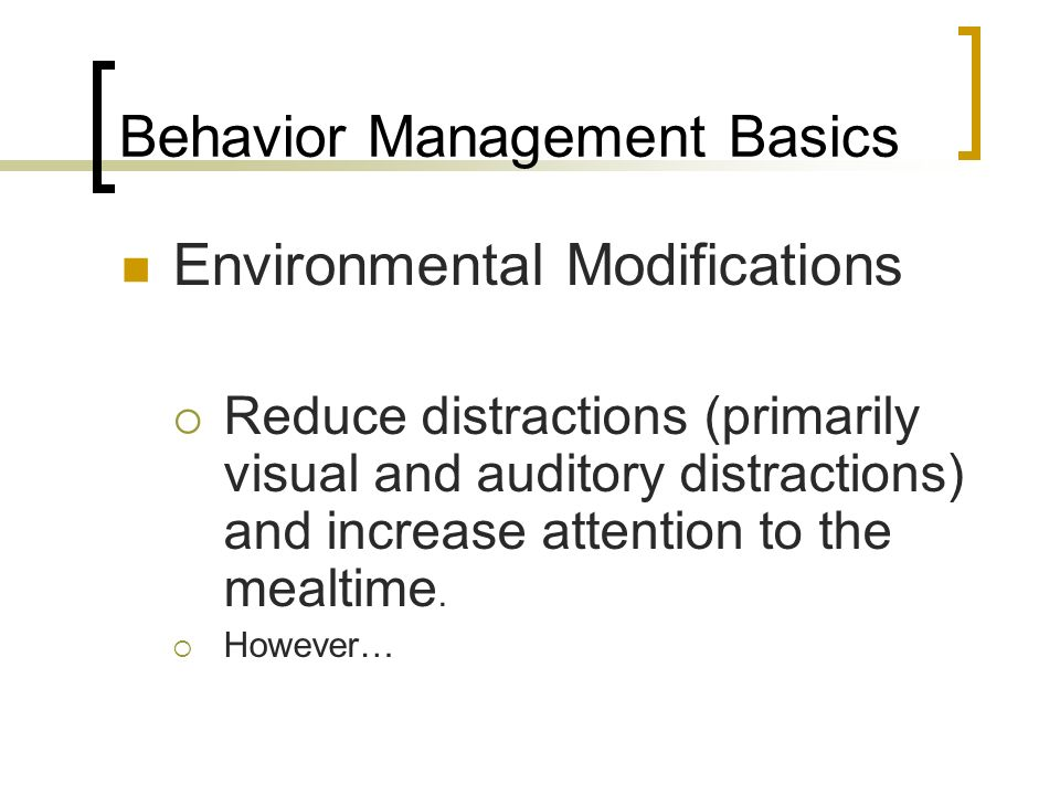 Behavior Management Basics