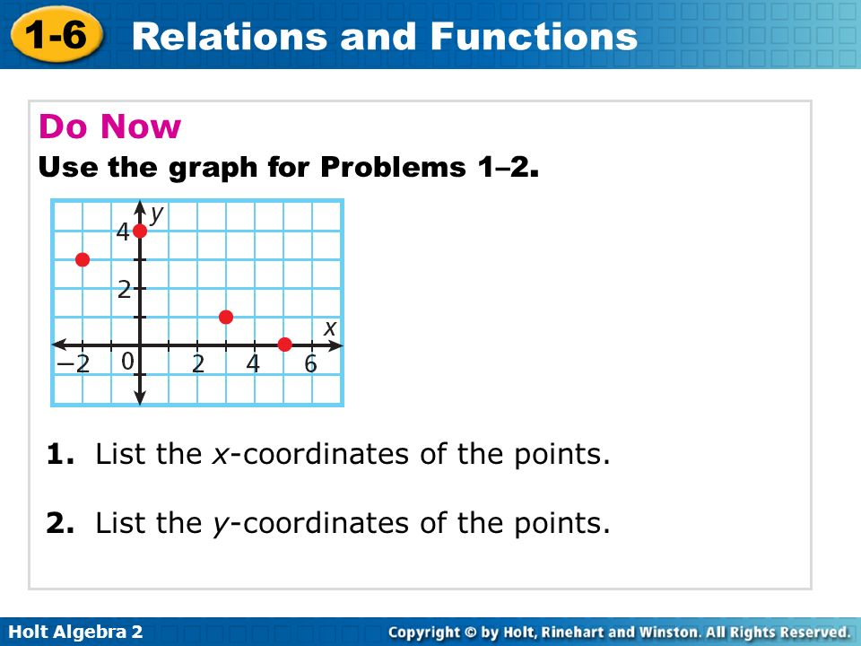 Do Now Use the graph for Problems 1–2.