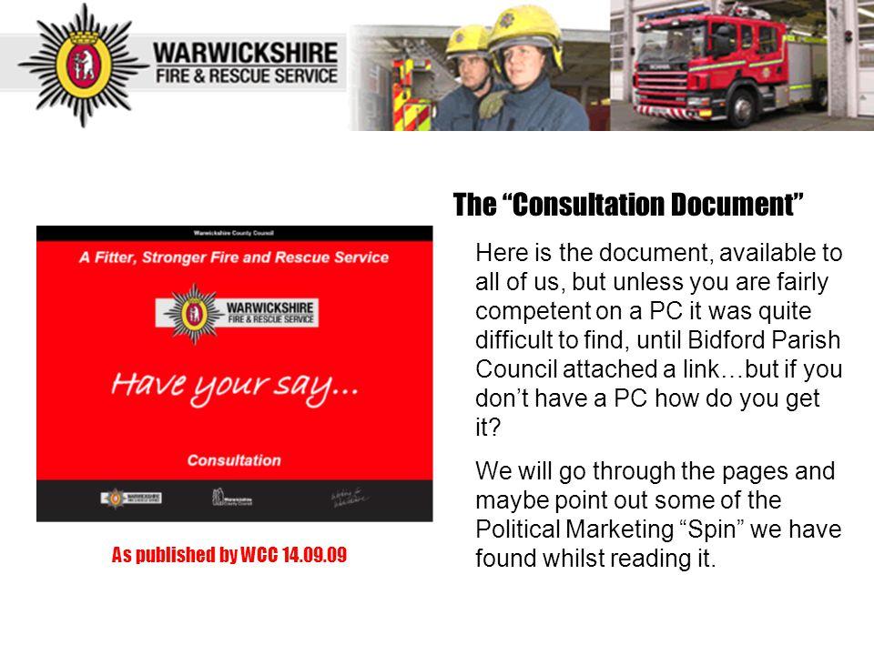 The Consultation Document